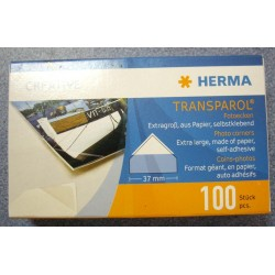Herma Transparol Self Adhesive Corner Mounts Size 37 mm